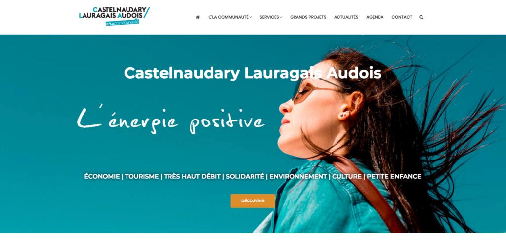 Site internet la Communauté de Communes Castelnaudary Lauragais Audois